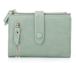 Green mini wallet womens