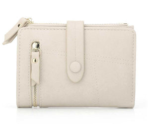 White mini wallet womens