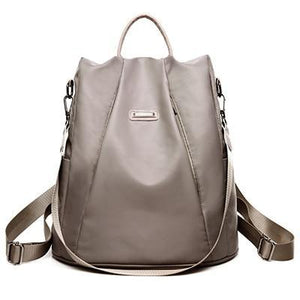 Gray Nylon backpack purse convertible for women