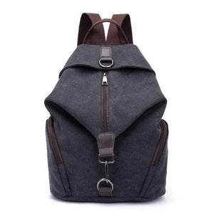 black canvas backpack for women