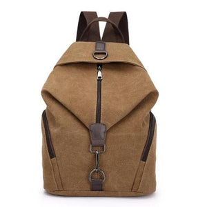 Brown canvas backpack women
