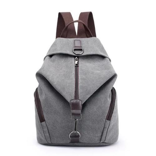 canvas grey backpack women