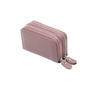 Purple RFID credit card small wallet womens