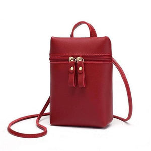 Red large crossbody phone bag