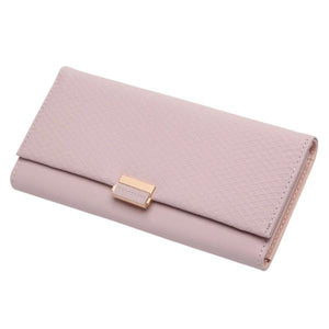 Pink women's clutch wallet