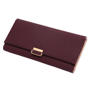 Burgundy women's clutch wallet