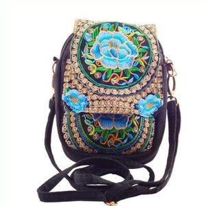 Kaira, Attractive Messenger Bag, blue flower