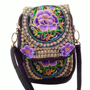 Kaira, Attractive Messenger Bag, purple flower