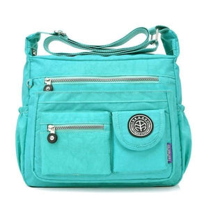 emerald crossbody travel bag water bottle holder