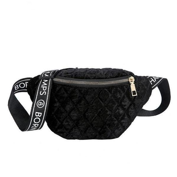 women black fanny pack belt bag waist fashion purse