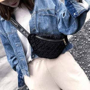 black velvet fanny pack belt bag
