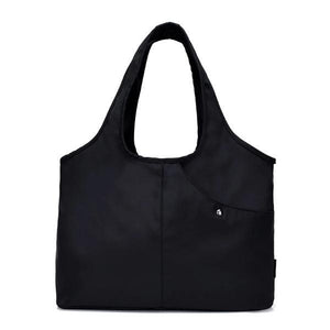 Black nylon tote bag waterproof umbrella compartment