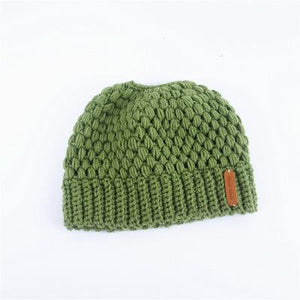 Montana, Beautiful Ponytail Beanie for Women, green