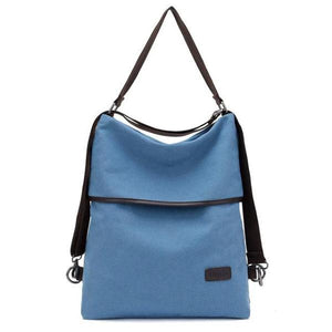 Vera, Women Multifunctional Soft Leather Backpack, blue