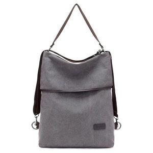 Canvas convertible tote backpack for travel