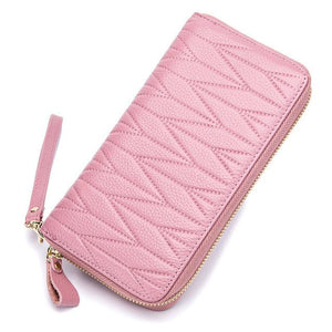 Pink credit card holder rfid wallet womens