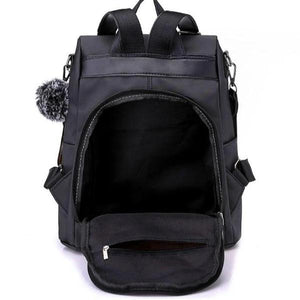 Anti theft nylon backpack for women