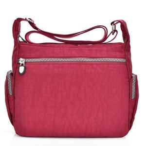 Large rear pocket nylon bag