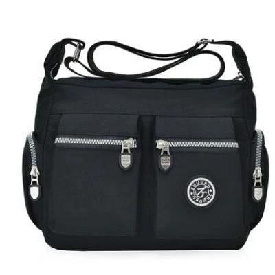 cheap black nylon bag women