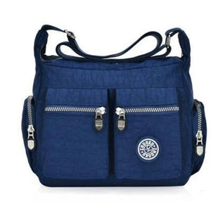 Blue nylon crossbody bags cheap