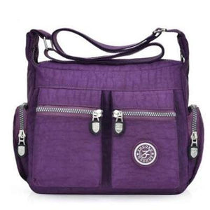 Purple nylon crossbody bags cheap