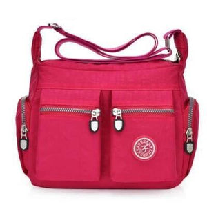 Rose red nylon crossbody bags cheap