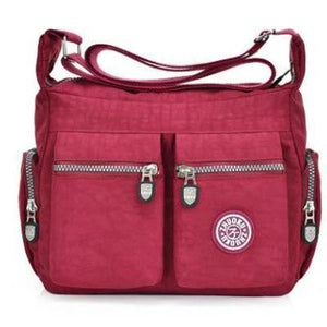 Wine red nylon crossbody bags cheap