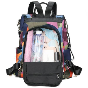 anti theft backpack purse compartment from the back