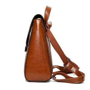 Brown side Backpack purse