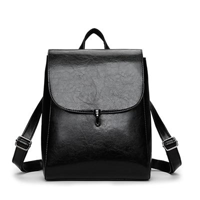 Convertible strap of leather backpack purse