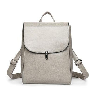 Gray Leather convertible backpack purse