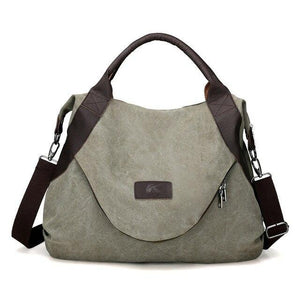 Women's canvas messenger crossbody shoulder bag