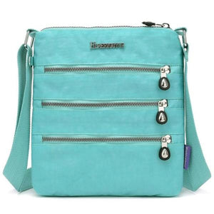 Emerald nylon multi pocket small crossbody bag
