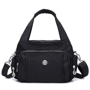 Black crossbody nylon shoulder bag