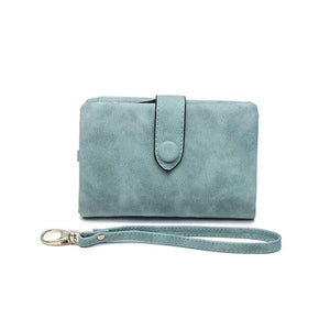 Green small wallets for women