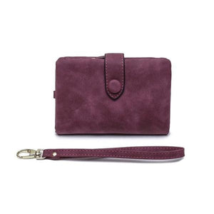 Purple small wallets for women