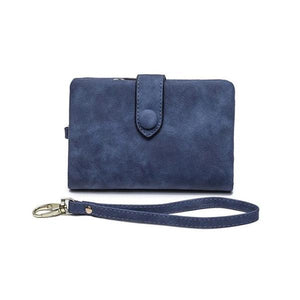 Blue small wallets for women