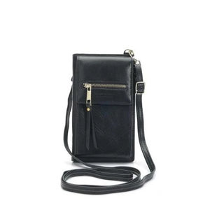 Black crossbody phone bag