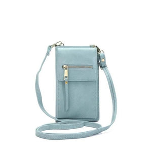 Blue crossbody phone bag