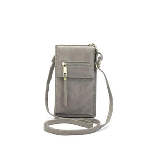 Gray crossbody phone bag