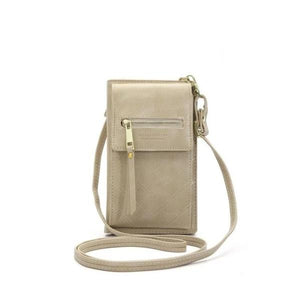 Beige crossbody phone bag