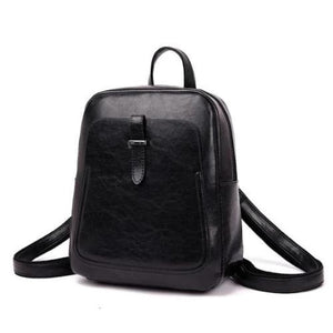 Black Leather backpack convetible vintage for women