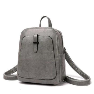 Gray Leather backpack convetible vintage for women