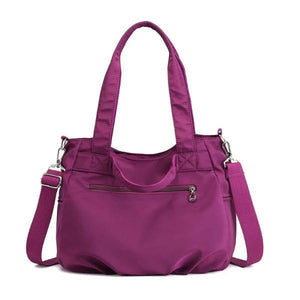 Stylish nylon bag with zipper pocket
