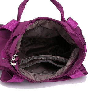 bag interior zipper with compartment