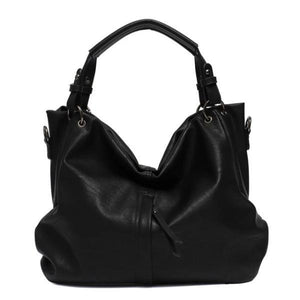 Black large hobo crossbody bags leather