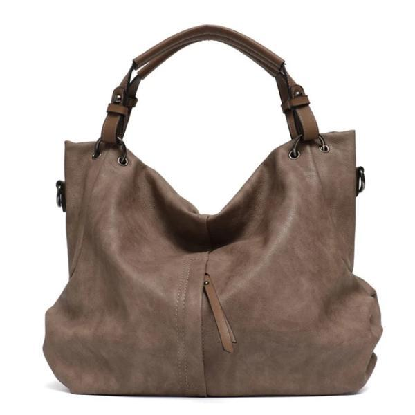 Khaki large hobo crossbody bags leather