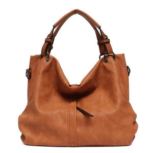 Brown large hobo crossbody bags leather