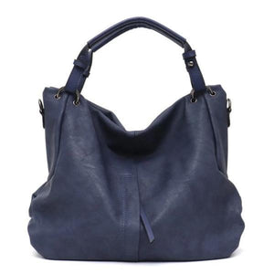 Blue large hobo crossbody bags leather