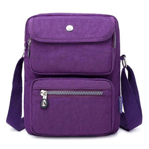Purple crossbody nylon bag women